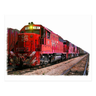 The Diesel Locomotive Postcard