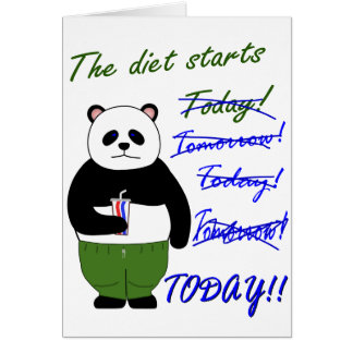 The diet starts… card