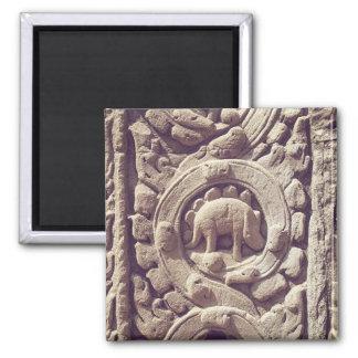 The Dinosaur of Angkor Wat Siem Reap Cambodia Square Magnet