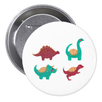 The Dinosaurs 7.5 Cm Round Badge