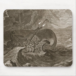 The Dioscuri Protect a Ship, 1731 (engraving) Mouse Pad