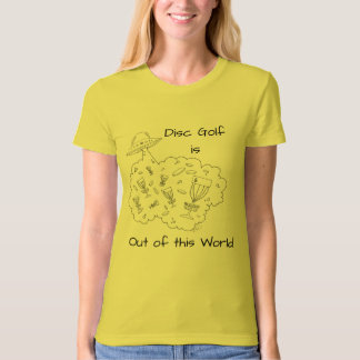 The Disc Golf is out of this World organic t-shirt
