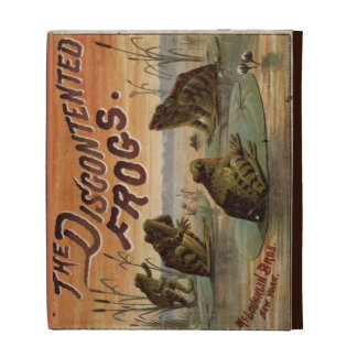 The discontented frogs 1895 iPad folio case