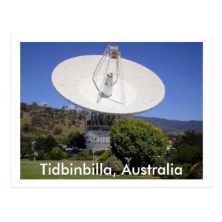 The dish postcard