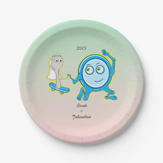The Dish Ran Away With The Spoon Wedding 7 Inch Paper Plate