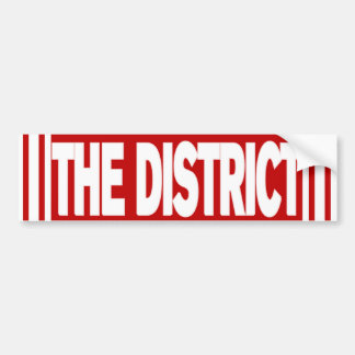 The District Red and White Bumper Sticker