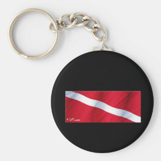 The Dive Flag Collection Basic Round Button Key Ring