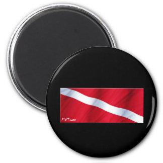 The Dive Flag Collection Fridge Magnet