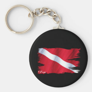 The Dive Flag Collection Key Chain
