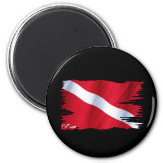 The Dive Flag Collection 6 Cm Round Magnet