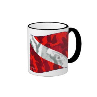The Dive Flag Collection Ringer Mug