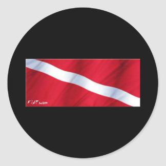 The Dive Flag Collection Round Sticker