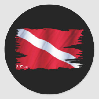 The Dive Flag Collection Stickers