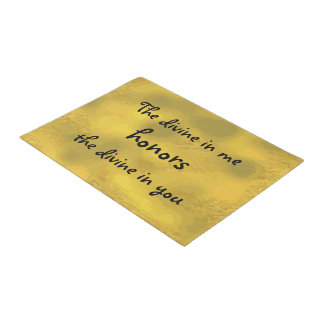 The divine in me honors the divine in you Quote Doormat