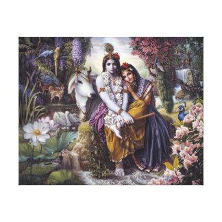 The Divine Loving Couple Canvas Print