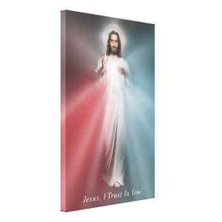 The Divine Mercy Image 24x36 Wrapped Canvas