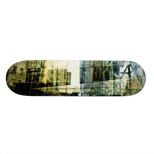 the diving cubism of nyc custom skate board