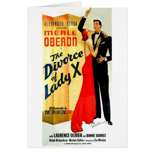 The Divorce of Lady X Greeting Card