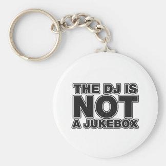 The DJ Is Not A Jukebox - DJing Disc Jockey Music Key Ring