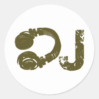 The DJ list Classic Round Sticker