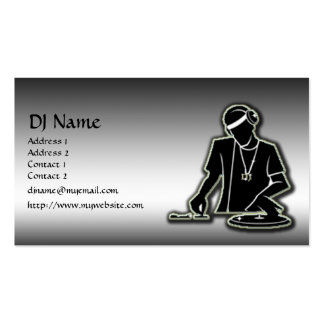 The DJ Pack Of Standard Business Cards