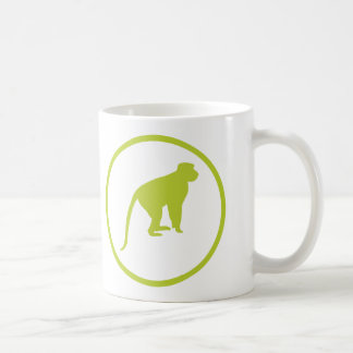 """The """"dodger of monkey shit"""" badge basic white mug"""