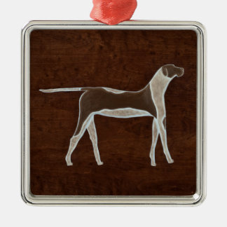 The Dog 2009 Silver-Colored Square Decoration