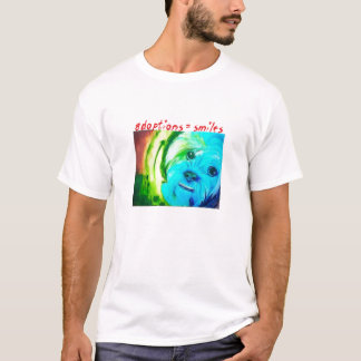 """The Dog"" (adoptions=smiles) by Sallie Douglas T-Shirt"