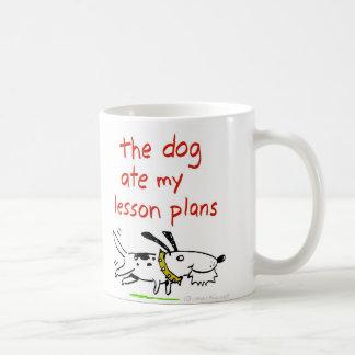 The dog ate my lesson plans basic white mug