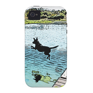 The Dog Days of Summer at the Lake iPhone 4/4S Covers