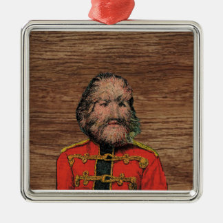 The Dog Faced Man Silver-Colored Square Decoration