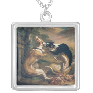 The Dog Fight, 1678 Square Pendant Necklace