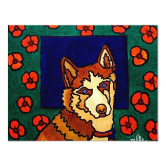 The Dog 11 Cm X 14 Cm Invitation Card