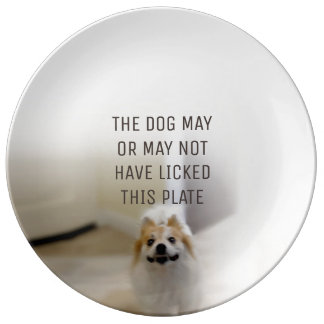 The Dog May or May Not Have Licked This Plate