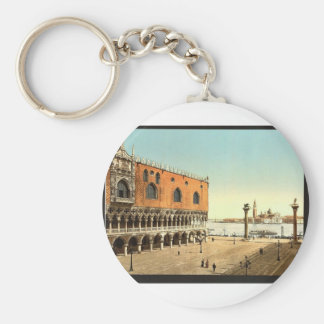 The Doges' Palace and the Piazzetta, Venice, Italy Basic Round Button Key Ring