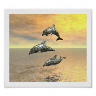 The Dolphins Print