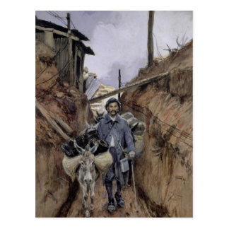 The Donkey, Somme, 1916 Postcard