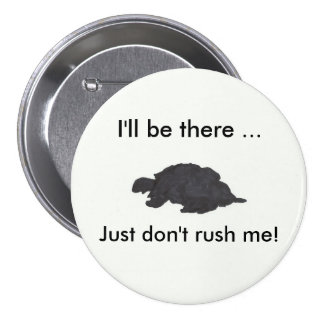 The Don't Rush Me Turtle Button