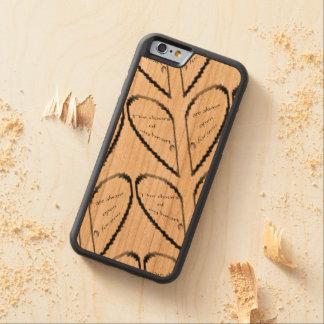 The door's of my heart carved cherry iPhone 6 bumper case