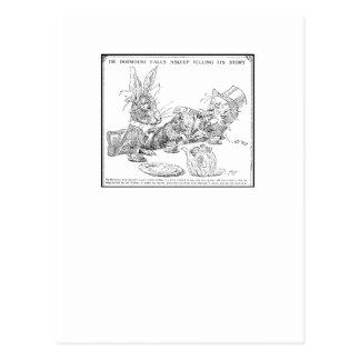 The Dormouse Falls Asleep Postcard