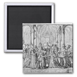 The Double Marriage in Louis XIII  to Anne Square Magnet