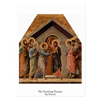 The Doubting Thomas By Duccio Postcard