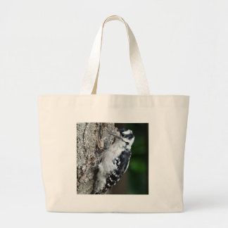 The Downey Woodpecker Large Tote Bag