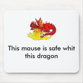 the dragon mouse pad