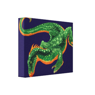 The Dragoon Stretched Canvas Print