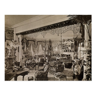 The Drawing Room, Wickham Hall, Kent, 1897 Postcard