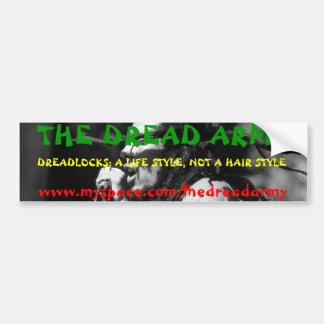 THE DREAD ARMY BUMPER STICKER