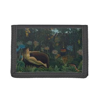 The Dream by Henri Rousseau, Vintage Impressionism Tri-fold Wallet