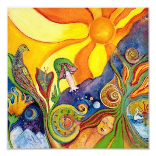 The Dream Fantasy Modern Folk Art Alice Wonderland Art Photo