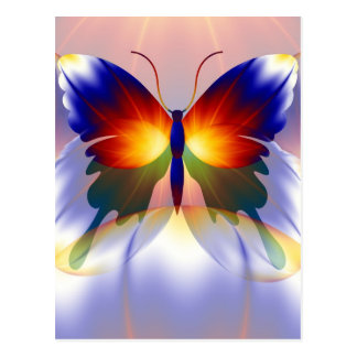 The dream of a butterfly postcard